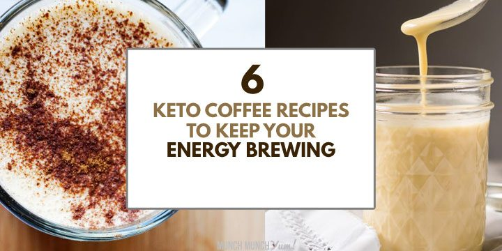 keto coffee recipes for energy atop drinks collage