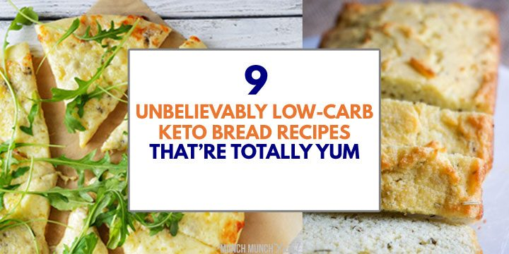 low carb keto bread recipes with flatbread and loaf in background