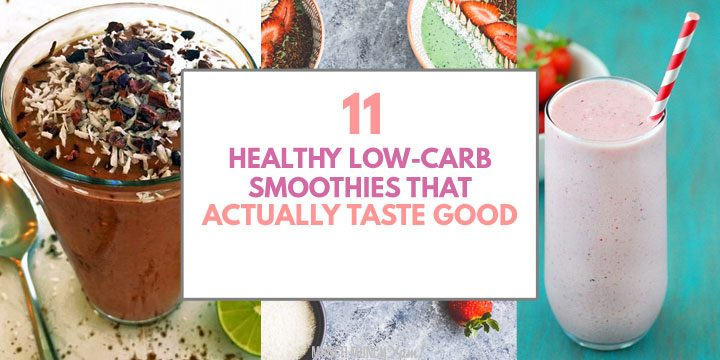 healthy low carb smoothies that actually taste good atop drinks collage