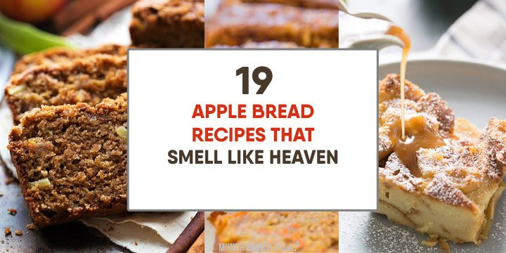apple bread recipes that smell like heaven atop collage of easy, healthy apple breads