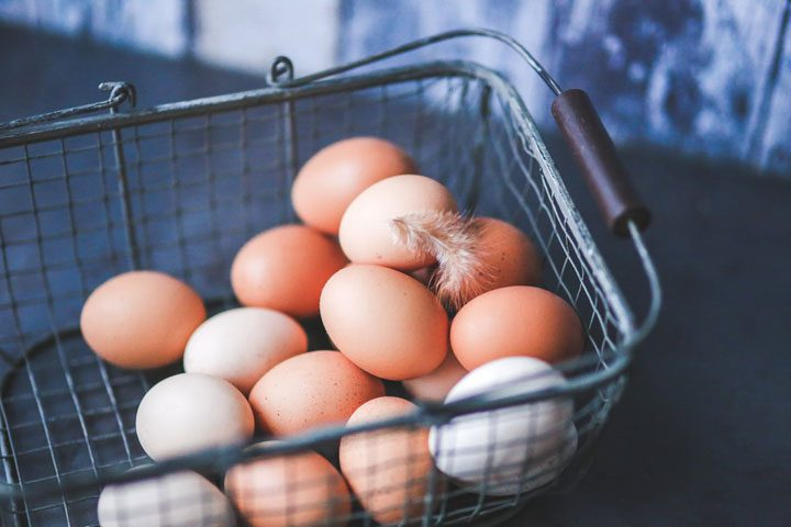 basket of eggs - vegetarian protein source