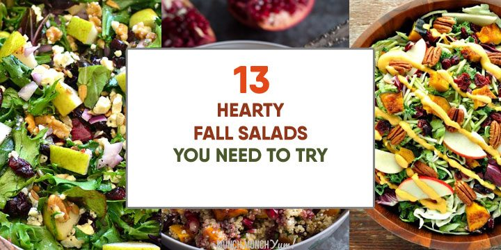 hearty fall salads you need to try atop collage of autumn salads