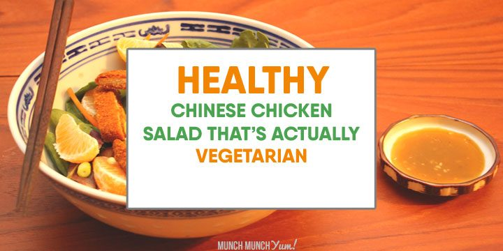 Healthy Chinese Chicken Salad Recipe (Vegetarian)