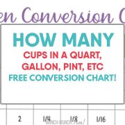 How Many Cups in a Quart, Gallon, Pint, Pound, Ounce, etc [Free Printable Chart!]
