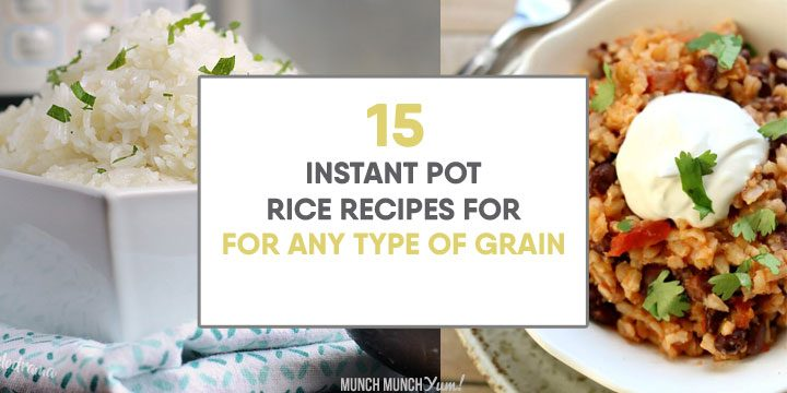 instant pot rice recipes for any type of grain atop white rice and mexican rice