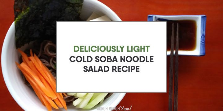 light cold soba noodle salad recipe atop japanese tofu buckwheat noodle bowl and dipping sauce dressing