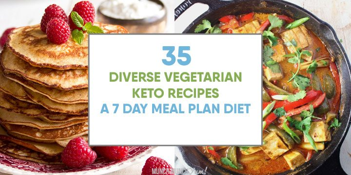 vegetarian keto recipes 7 day meal plan diet atop breakfast pancakes and curry dinner