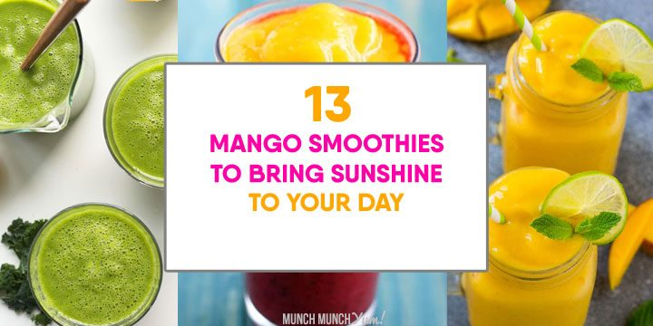 mango smoothies to bring sunshine to your day