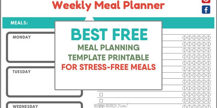 best free meal planning template printable for stress-free family dinners