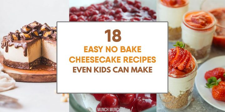 collage of easy, no bake cheesecake recipes.