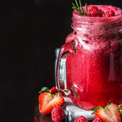 strawberry watermelon spinach smoothie