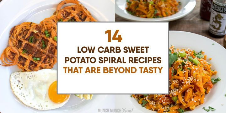 low carb sweet potato spiral recipes that are beyond tasty atop waffles and pad thai noodles