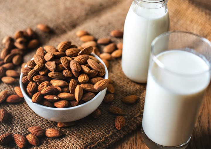non dairy beverage from almonds.