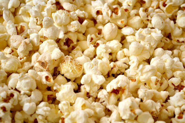 vegetarian pantry list example snack - popcorn.