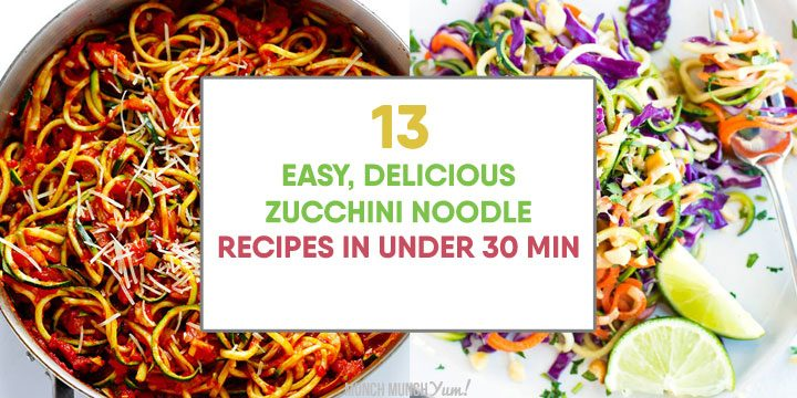 easy, delicious zucchini noodle recipes in under 30 minute atop spaghetti and thai salad